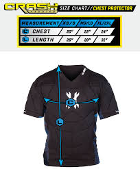 Chest Protector Size Chart Hk Army Crash Chest Protector Black Blue