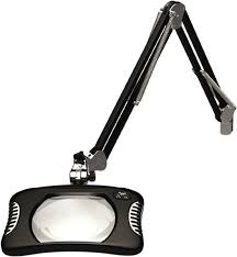o c white 43 inch gooseneck clamp on led black magnifying task