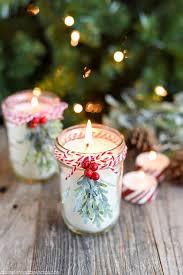 Decorating Jam Jars For Candles 100 Mason Jar Christmas Crafts Fun DIY Holiday Craft Projects 74