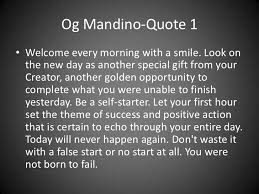 Og Mandino Quotes Delectable Og Mandino Quotes
