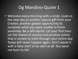Og Mandino Quotes Extraordinary Og Mandino Quotes