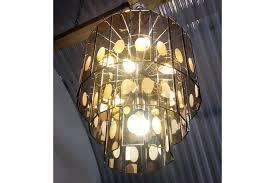 italian smoked amber glass chandelier photo 1