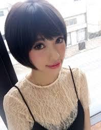 大人女子を美しく黒髪ショートヘアke 462 ヘアカタログ髪型