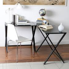 Stylish Desk Stylish Corner Writing Desk Glass Top Material Metal Base Material