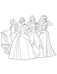 Small Picture Beautiful Disney Princesses Coloring Page H M Coloring Pages
