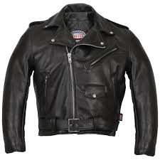 hot leathers men s usa made classic black leather jacket