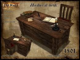 office world desks. medieval office desk with chair dark wood old world rustic furniture desks h