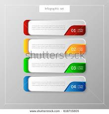 tamplate infographic button template banner set colorful stock vector