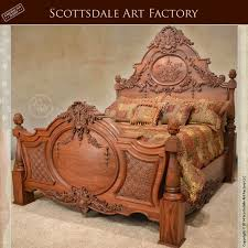 art bedroom furniture. hand carved bed walnut custom wood bedroom furniture by the hands of our art