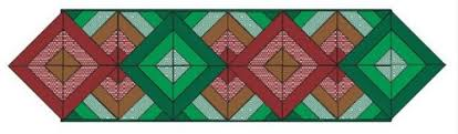 100+ Free Quilt Patterns For Your Home | FaveQuilts.com & Diamonds and Chevrons Table Runner Adamdwight.com