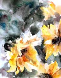 sunflowers watercolor painting art print floral watercolour wall art abstract watercolor  on abstract watercolor wall art with the 367 best art by canostop images on pinterest watercolour
