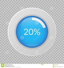 Pie Chart 20 20 Percent Pie Chart On Transparent Background Percentage
