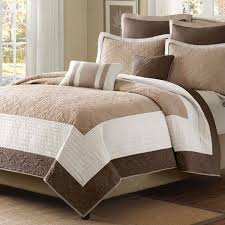Best 25+ Quilts & coverlets ideas on Pinterest   Teal and gray ... & King Brown Ivory Tan Cream 7 Piece Quilt Coverlet Bedspread Set Adamdwight.com
