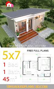 small house design plans 5x7 with one