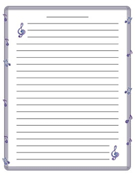 Music Writing Paper Music Note Border Lined Paper