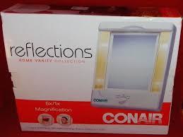 conair reflections home vanity mirror reflections home vanity collection dual sided lighted magnify conair reflections home