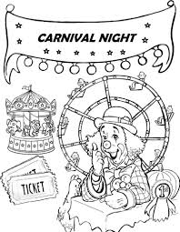 Fun Ferris Wheel Coloring Pages For Little Kids Coloring Pages