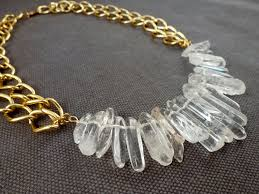 emily from delightfully diy make this cool crystal quartz nugget necklace as a guest post at my chic life