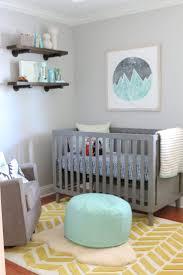 Gray modern nursery is themed