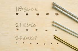 finish nail parison chart