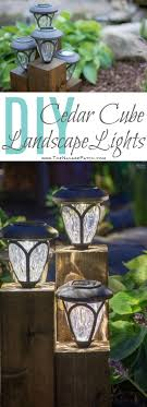 diy cedar cube landscape lights diy solar outdoor lights how to clean a solar