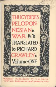 history of the peloponnesian war by thucydides original title page