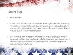 america ppt template painted american flag powerpoint template backgrounds 11089