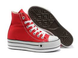 Classic All Star High Top Red Canvas Heighten Shoes