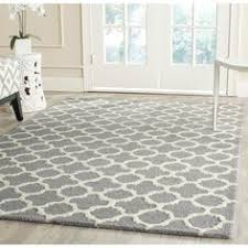 safavieh handmade moroccan cambridge circles pattern silver wool rug 8 x 10