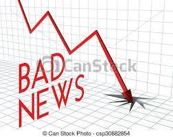 Down Arrow Chart Bad News Chart Crisis And Down Arrow