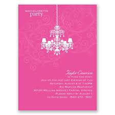 bachelorette party invite chandelier swirl bachelorette party invitation invitations by dawn