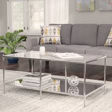 Busey Glam Mirrored Coffee Table