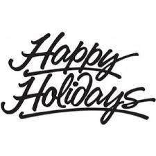 happy holidays white. Exellent White Happy Holidays Clip Art Black And White Intended Holidays White S