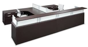 office source borders ii series 2 person reception desk 6 laminate finish options