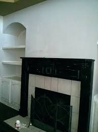 painted fireplace mantels black mantel wall out wood surround shelf painting gray best shelves painted fireplace mantels