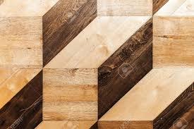 Wood Parquet Design Classic Wooden Parquet Design Volume Cubes Illusion Flooring
