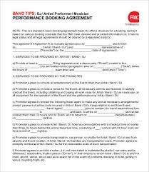 event agreement contract dj contract template