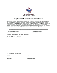 eagle scout candidate letter of recommendation letter of recommendation for eagle scout template gdyinglun com