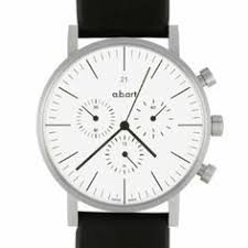 alessi unisex al13001 out time brown leather strap watch amazon a b art men s quartz watch white dial chronograph display and black leather strap