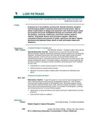 Resume Example Teacher 82 Images Resume Examples For Elementary