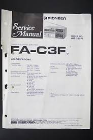 pioneer fa c3f tuner amplifier original service manual wiring image is loading pioneer fa c3f tuner amplifier original service manual