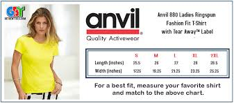 Anvil T Shirts Size Chart T Shirt Forums View Single Post Clothing Line Margins