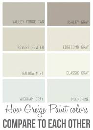 Behr Greige Colors The Best Paint Colors And How They Compare To Each Other  Most Popular