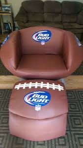 bud light football chair cooler