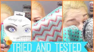 tried tested always off makeup cloths
