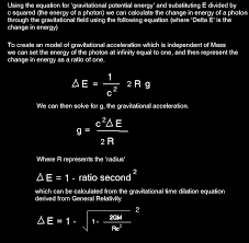 calculating gravitational acceleration given deltae or calculating deltae given the gravitational acceleration