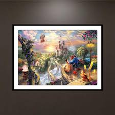 beauty and the beast 5d diamond painting embroidery diy cross stitch home decor