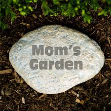 12 photos gallery of personalized garden stones treatment