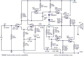 schematic diagram 500 watts amplifier the wiring diagram 100 watt sub woofer amplifier electronic circuits and diagram wiring diagram