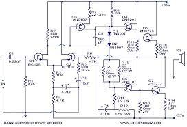 100 w subwoofer amplifier circuit